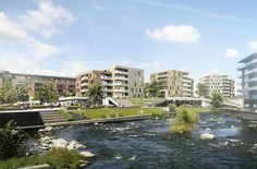 Søtorvet new mixed urban quarter in Silkeborg, Denmark, by C.F. Møller Architects