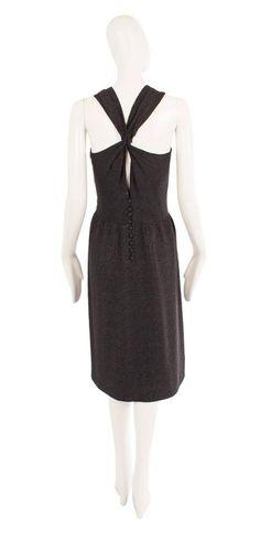 Guy Laroche haute couture black silk dress, circa 1965