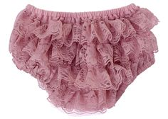Lace Diaper Cover Baby Bloomer - Rosy Mauve
