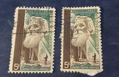 Photo of original stamps.