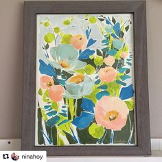 """495 Likes, 3 Comments - Jess Franks (@jessfranksart) on Instagram: """"Thrilled to see another """"BLOOM"""" piece framed and in its new home. Thanks for sharing @ninahoy!"""""""