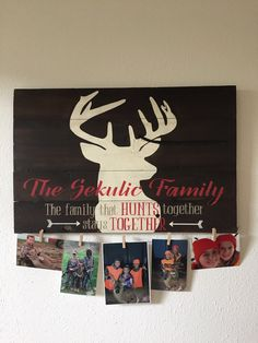 Great gift for HUNTERS Deer Silhouette with family by MTSparrows