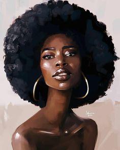 Art & beauty in 2019 black women art, art, black girl art. Black Love Art, Black Girl Art, Art Girl, Pretty Black, Black Girls, Black Art Painting, Black Artwork, Afro Painting, African American Art