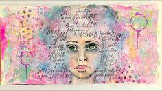 Art Journaling Mixed Media Girl