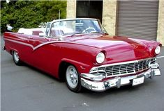 1956 ford convertibles | 1956 Ford Fairlane Convertible dark red