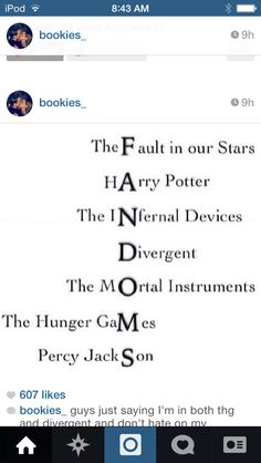 I LOVE ALL THESE BOOKS! FANDOMS WE NEED TO UNITE!
