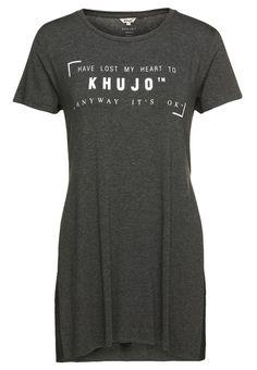 khujo MIDI TShirt print mottled dark grey Bekleidung bei Zalando.de | Material Oberstoff: 95% Viskose, 5% Elasthan | Bekleidung jetzt versandkostenfrei bei Zalando.de bestellen!