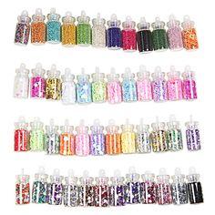[CyberWeekSale]48 Colors Glass Bottled Nail Art Decoration Random Models – USD $ 2.99