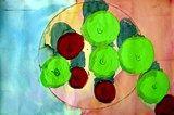 Artsonia Art Exhibit :: Matisse Still Life: apples with shadows.