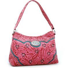 Montana West Western Studs & Tooled Style Shoulder Handbag / Rhinestones - Pink  $49.99 + Free Shipping!  wantedwardrobe.com  wantedwardrobe.net  #fashion #handbags #western
