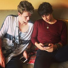 Bradley Simpson and Tristan Evans from The Vamps