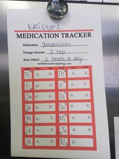 While He Was Napping: {Free Printable} Medication Trackers