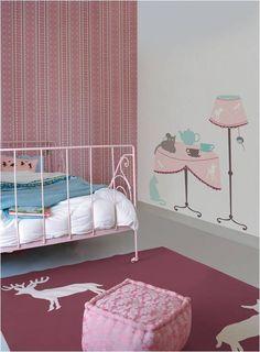 meubel, wand-, decoratiestickers. babykamer idee wegvliegende beer, Deco ideeën