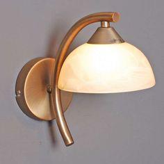 Wandleuchte Milano 15 Bronze: Zeitlose und klassische Wandleuchte mit cremefarbenem Muranoglas. #deckenleuchte #innenbeleuchtung #bronze #modern #herbst