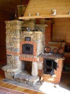 Polish masonry heater kominek i piec w domu (2)