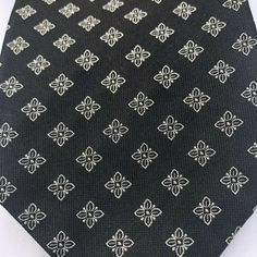 efe624c875d2 BRIONI Black & White Floral Tie Mens 100% SILK Italy PRISTINE $230 #fashion  #