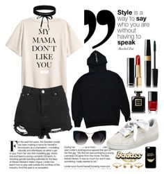 """""""slogan t-shirt"""" by anabelisstyle ❤ liked on Polyvore featuring Boohoo, Chanel, Puma, House of Harlow 1960 and Steve Madden"""