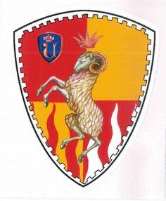 PALIO CONTRADE DI SIENA - Adesivo a forma di scudo VALDIMONTONE