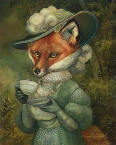 """Flora"" Justin Gerard Fauna, Whimsical Art, Children's Book Illustration, Fox Pictures, Fox Tattoo, Fox Art, Cute Fox, Red Fox, Pet Costumes"