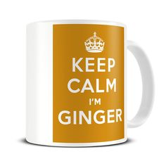Keep Calm I'm Ginger Coffee Mug Premium ceramic mug. Pin sharp print with a high gloss finish. Gifts For Brother, Gifts For Dad, Gifts In A Mug, Funny Coffee Mugs, Funny Mugs, Ginger Coffee, Funny Boyfriend Gifts, Star Wars Mugs, Keep Calm Mugs