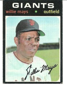 WILLIE MAYS 1971 TOPPS # 600 EX CONDITION