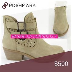 Reserved for Shelly💕 Tan booties-Size 9-$45-see original listing for details. Shoes Ankle Boots & Booties