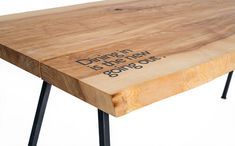 MY WOODNESS - Christopher - Dining Table - Esstisch massiv Holz mit Print /