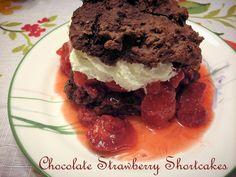 Sweet 'n' Savory Eats: Chocolate Strawberry Shortcakes