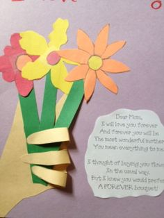 preschool crafts pics christmas | Preschool Crafts for Kids*: Mother's Day Flowers with Hand Craft