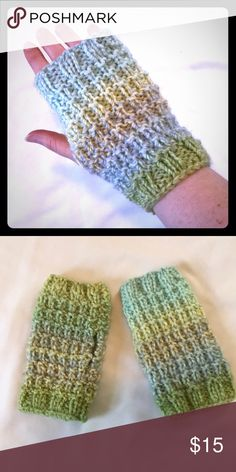 Hand knit fingerless gloves Great for winter, while keeping your fingers free for phone, keys, etc. Each can go on either hand. Accessories Gloves & Mittens