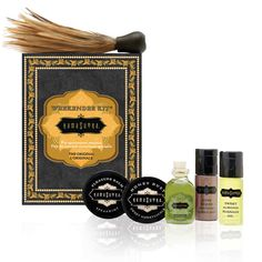 Don't let romance catch you unprepared. Kama Sutra Weekender Kit includes Original Oil of Love, Love Liquid Lube, passion-sustaining Pleasure Balm, silky Sweet Almond Massage Oil, and edible Honey Dust. Massage Relaxant, St Patrick's Day, Ready For Love, Massage Lotion, Body Gel, Body Powder, Travel Kits, Fun Travel, Travel Toiletries