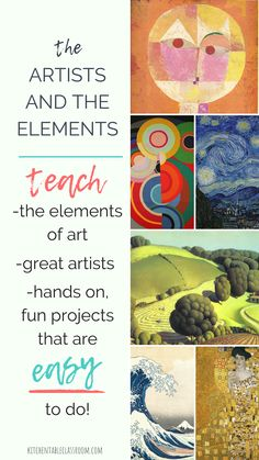 Art Lesson This elementary to middle school art program lays out all the lessons and resources you need for a full year of art class. Perfect for homeschool art lessons. Let me do the teaching!This elementary to middle school art program lays out all the Art Education Lessons, Art Lessons For Kids, Art Lessons Elementary, Kindergarten Art Lessons, Elementary Art Education, Visual Art Lessons, Art History Lessons, Art Education Projects, Kids Art Class