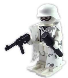 Custom Lego Military Soldier Minifigure Model Soldiers German Camouflaged Winter Mountain Combat Soldier