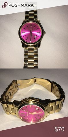 Michael Kors watch Worn a couple times, pink face. Does not come with box Michael Kors Accessories Watches
