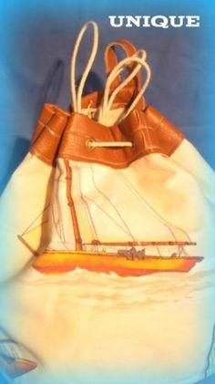 bolso marinero adaptado como mochila con ansas