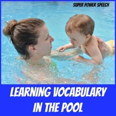 Super Power Speech: Learning Vocabulary in the Pool! Pinned by SOS Inc. Resources. Follow all our boards at pinterest.com/sostherapy/ for therapy resources.