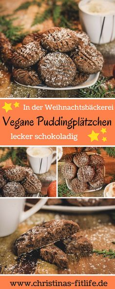 ᐅ vegan chocolate pudding cookies i christinas fitlife - reze .- ᐅ Vegane Schoko Puddingplätzchen I Christinas Fitlife – Rezepte In the Christmas bakery …. Sooo delicious and chocolatey! Healthy Snacks List, Healthy Smoothies, Healthy Desserts, Smoothie Recipes, Chocolate Pudding Cookies, Cookie Recipes, Snack Recipes, Pudding Recipes, Desserts Sains