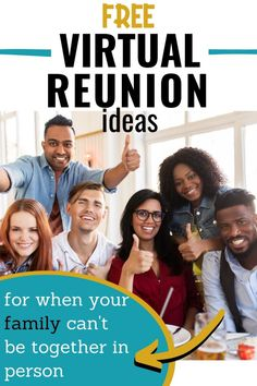 Have you ever considered a virtual family reunion? Sometimes, family members can't be together but they can still stay connected with these fun and free ideas. Family Reunion Activities, Youth Group Activities, Family Reunions, Youth Groups, Family Bonding, Indoor Activities, Indoor Games For Teenagers, Virtual Families, Summer Camp Games