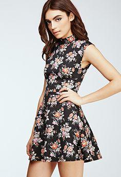 Floral Scuba Knit Dress | Forever21 - 2000120278