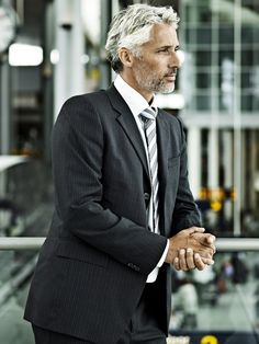 Silver hair, patiently waiting, handsome older men, handsome man, older man Sharp Dressed Man, Handsome Older Men, Handsome Man, Older Man, Silver Foxes Men, Older Mens Fashion, Women's Fashion, Fashion Stores, Men Over 50