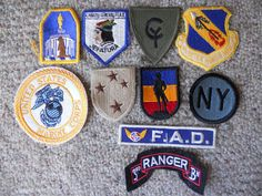 10 DIFF MILITARY PATCHES-LOT 21