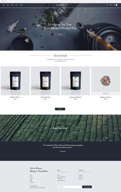 Online Tea Shop   Website Template
