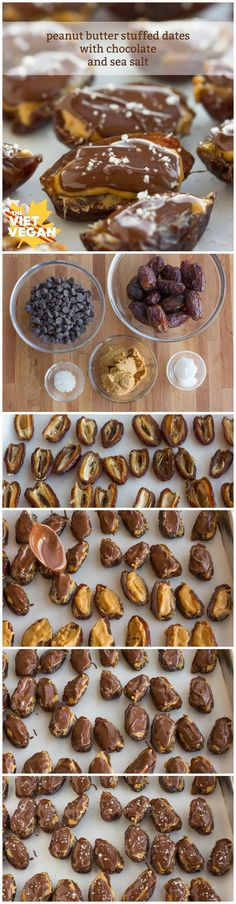 Peanut Butter Stuffed Dates with Chocolate and Sea Salt | The Viet Vegan | 5 ingredients + 30 minutes = Deliciousness!