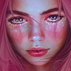 Immagine di art, girl, and pink Digital Art Girl, Digital Portrait, Portrait Art, Realistic Drawings, 3d Drawings, Deviant Art, Pretty Art, Art Inspo, Creative Art