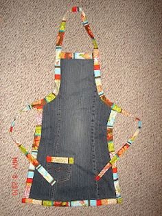 Well of course!  A nice sturdy denim apron out of all those out grown blue jeans around the house!