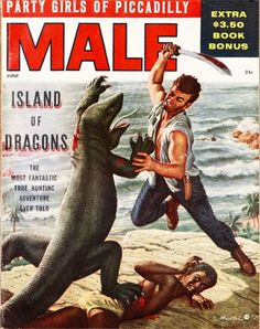 Mort Künstler's pulp magazine covers. The only thing cooler than a sword is a dragon.