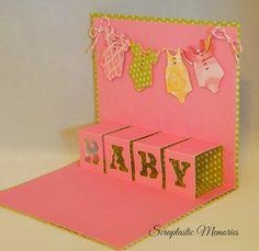 Scraptastic Memories  A Crafting Blog: Artfully Sent - Baby Card and Tutorial