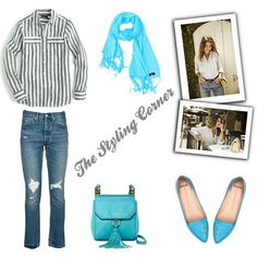 I always like to add a pop of color to a simple outfit.  #style #styleblogger #stylingblog #stylingtips #stylist #fashionstylist #fashionlover #fashion #diariesofastylist #streetstyle #jeans #stripedshirt #aquablue #hijab #hijabfashion #hijaboutfit #outfitideas #ootd #polyvore #polyvoreoutfits #polyvoreset #polyvoreset #polyvoreootd #mollinishoes #aimeekestenberg #ililily #jcrew #italist