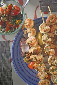 tequila lime shrimp & summer vegetables - fresh flavorful healthy marinade