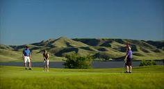 Golfing in the Qu'Appelle Valley, Saskatchewan.